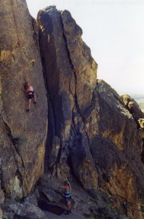 19 Sep 1999 Smith Rock - Georgie, Sunset Slab 2
