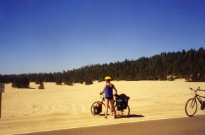 2 Sep 1999 Sand dunes before Cape Kiwanda