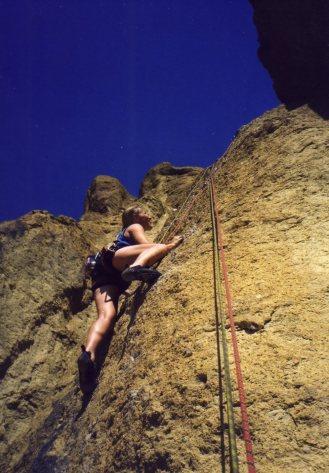 21 Sep 1999 Smith Rock - Georgie Ancyclostoma 1064